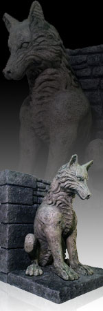 Figuresworld movies t v game of thrones - Dire wolf bookends ...