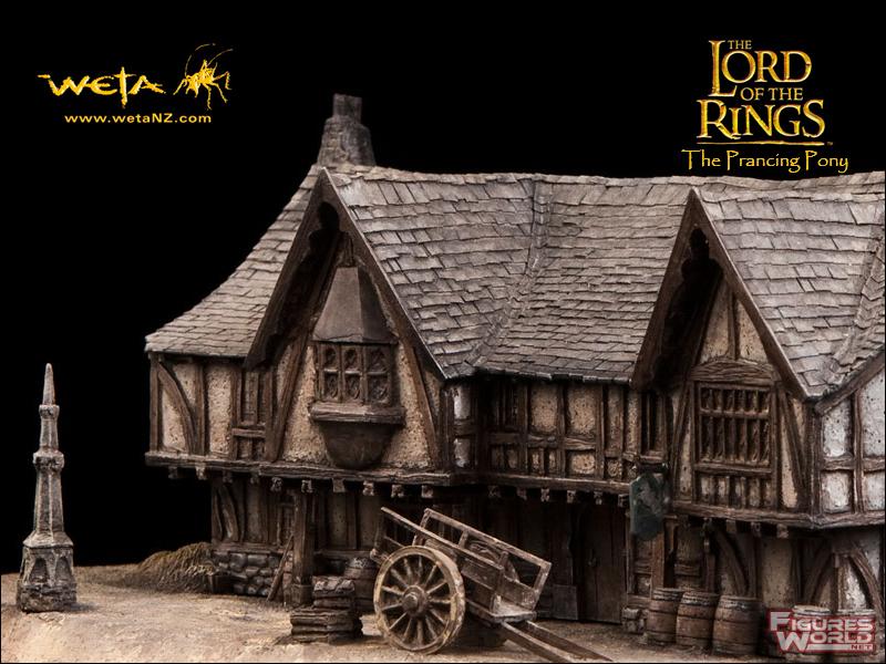 recherche LOTR et Hobbit Weta / Sideshow Prancing_pony_diorama_09