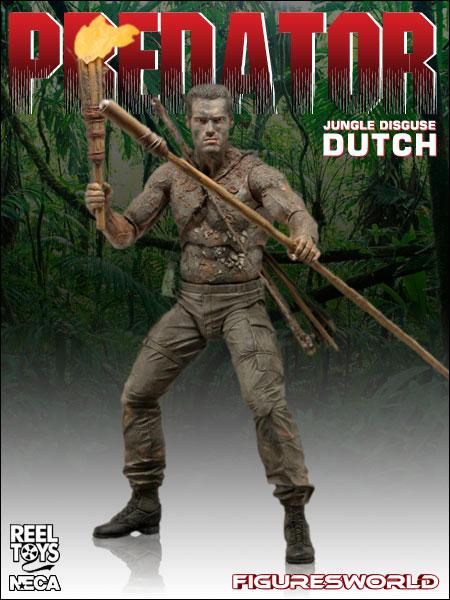 """Predators Series 9 Mud Jungle Disguise Dutch 7/"""" Figure"""