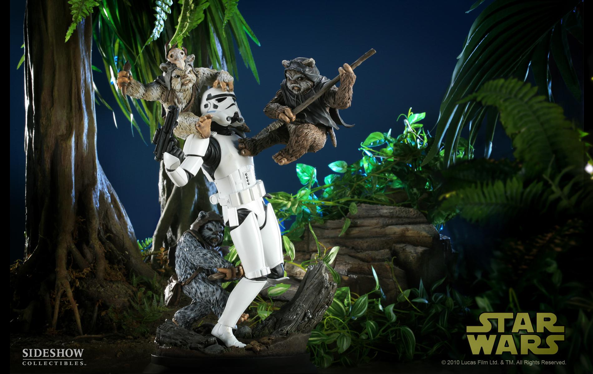 Figuresworld movies t v star wars - Ewok wallpaper ...