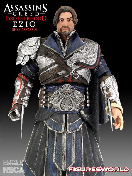 "Onyx Costume 7/"" NECA Action Figure Assassins Creed Brotherhood Ezio Unhooded"