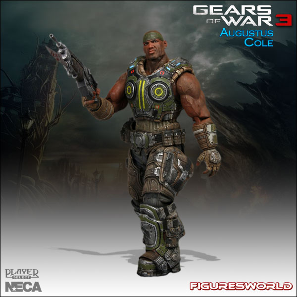 NECA EPIC GAMES GEARS OF WAR AUGUSTUS COLE SERIES 2 ACTION FIGURE